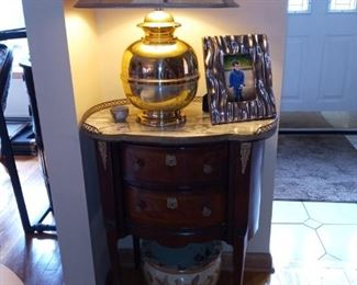 Embellished two drawer table
