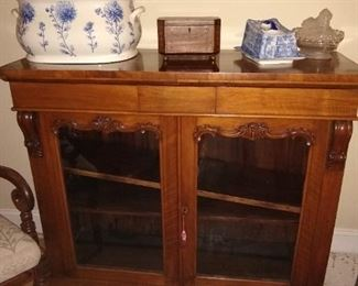 Antique Scottish Cabinet and English cheese keeps.
