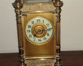 Antique carriage clock.