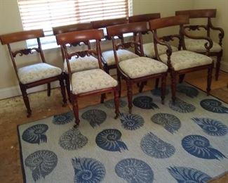 Antique Scottish boardroom chairs. 8