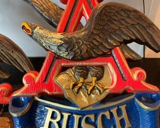 Busch Bavarian Beer Advertising wall hanging 1960s