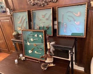 framed collectible pipes