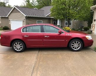 2007 Buick Lucerne CXL 34,168 miles. Excellent condition, loaded,heated seats,heated steering wheel. Very smooth ride. Asking $8500.. bid box at cashiers table. There is a  reserve on car .. for  purchase of car will need cashiers check or money order made out to Over the River Estate sales.... highest bidder  will be called by 10am Sat May 15
