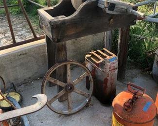 Really old sanding wheel.
