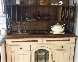 Bakers rack wood and iron by A.R.T. Furniture