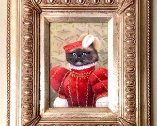 Elizabethan Cat - signed Marten