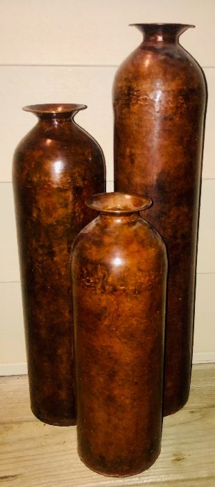 Trio - Metal Floor Vases