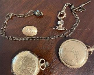 Pair of Waltham him pocket watches
