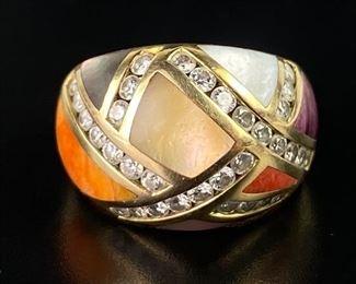 Asch Grossbardt 14K Yellow Gold & Diamond Ring