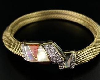 Asch Grossbardt 14K Yellow Gold & Diamond Bracelet