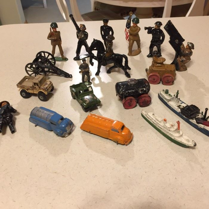 Grouping of the antique toys