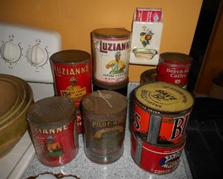 Advertising Tea and Coffee Tins