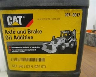 New - 9 QTS of CAT Backhoe Axle & Brake Oil Additive 197-0017 - 9 QTs