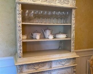 Distressed bookcase/ china cabinet