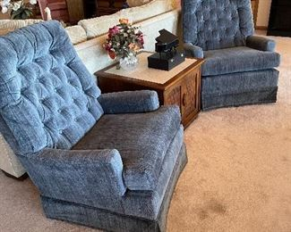 Fabric Blue Chairs