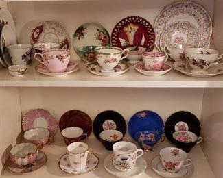 Tea Cup Sets (Queen Anne Royal Bridal Gown, Rosenthale, Tuscan Naples, Royal Albert, etc.)