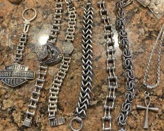 Motorcycle sterling bracelets