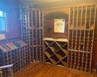 Wine Rack System. Holds over 250 bottles of wine. Was $5k new.