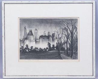 Adolf Dehn Central Park NYC Print