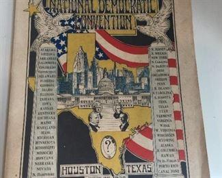 1928 Houston National Democratic Convention Book