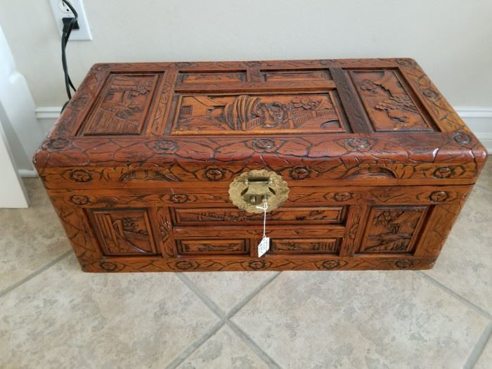 Hand Carved Trunk