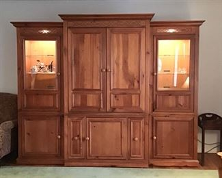 Entertainment / Media /Lighted  Display Cabinet