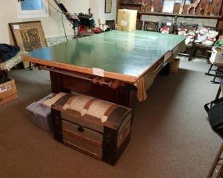 Vintage Brunswick pool table