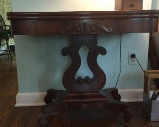 Mahogany Empire card table