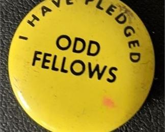 Lot 011-12 Rare Independent Order of Odd Fellows Pledge Pin Vintage