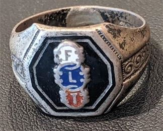 Lot 011-11 Rare Vintage Independent Order of Odd Fellows Lodge Ring