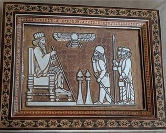 Lot 020 Persia Iran Handmade Picture Jamshid King 400 Years Shiriz Persia