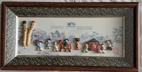 """Lot 021 South Korea """"A Wedding Party"""" Framed 3D Wall Hanging 16.75"""" x 8.5"""""""