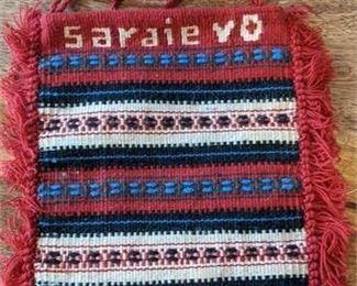 "Lot 043 Bosnia Herzegovina Sarajevo Woven Wool 9 x 11"" Bag Purse"