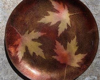 """Lot 058 Rare Vintage Penland School Of Crafts Copper Trinket Dish 4.75"""" Signed"""