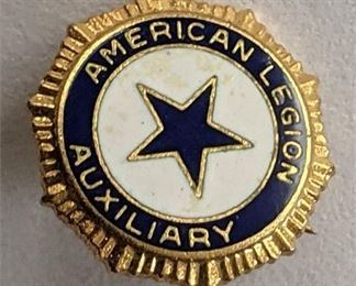 Lot 109 Vintage American Legion Auxiliary Pin 1/2 inch Military