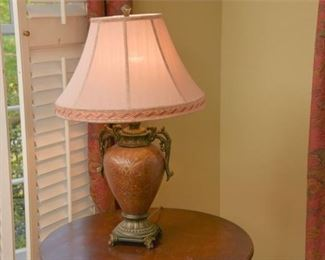 10. Decorative Lacquered Urn Lamp