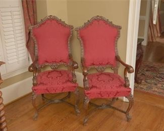 7. Pair Large French Style Fauteuils