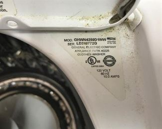 Washers serial number