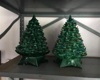 Ceramic & lighted Xmas trees