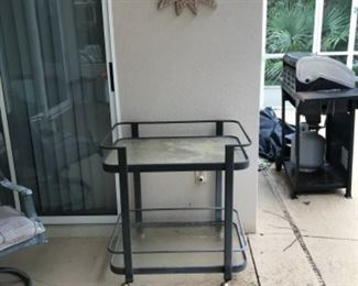 Powder coated drink/bar cart