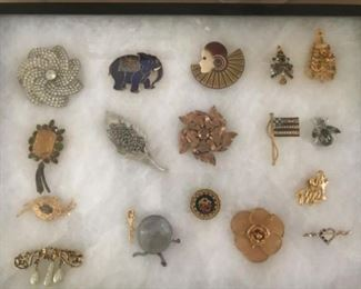 Vintage and modern brooches