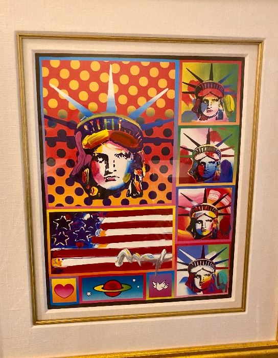 Mixed media painting, hand signed by the artist with hand applied embellishments in acrylic. Appraised value at the time: $6,200