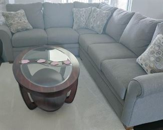 La-Z-Boy gray sectional sofa