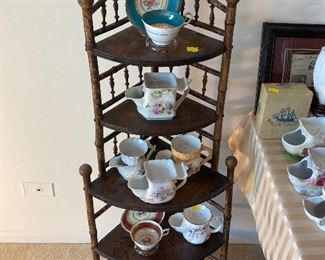 assortment of scuttle mugs and cups and saucers