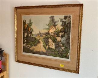 Framed art, signed