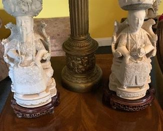 The most incredible pair of Continential  ivory, Emperor and Empress. Ivory will only be sold to people with a Missouri drivers license, please come prepared.