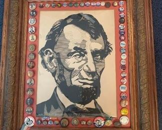 Abe Lincoln w/ Political Buttons!