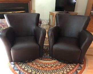 Pair of Chairs - Swivel, Rug