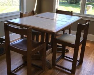 Tile top table with 4 chairs