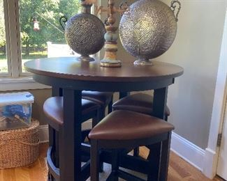 Pub table with 4 stools by Legacy American Made